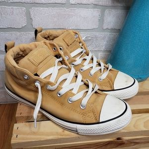 Converse Light Tan Leather Sneakers